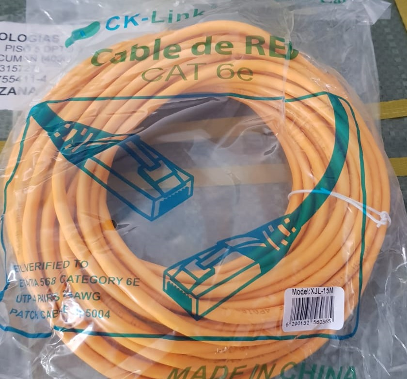 CABLE DE RED 3 METROS CAT 6