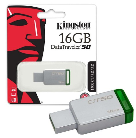 ELG PENDRIVE KINGSTON 16 GB ORIGINAL DT50 JGT PK050