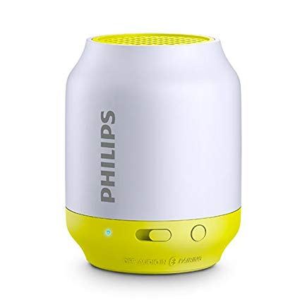 PARLANTE PHILIPS BT50G BLANCO / AMARILLO WIRELESS PORTATIL B