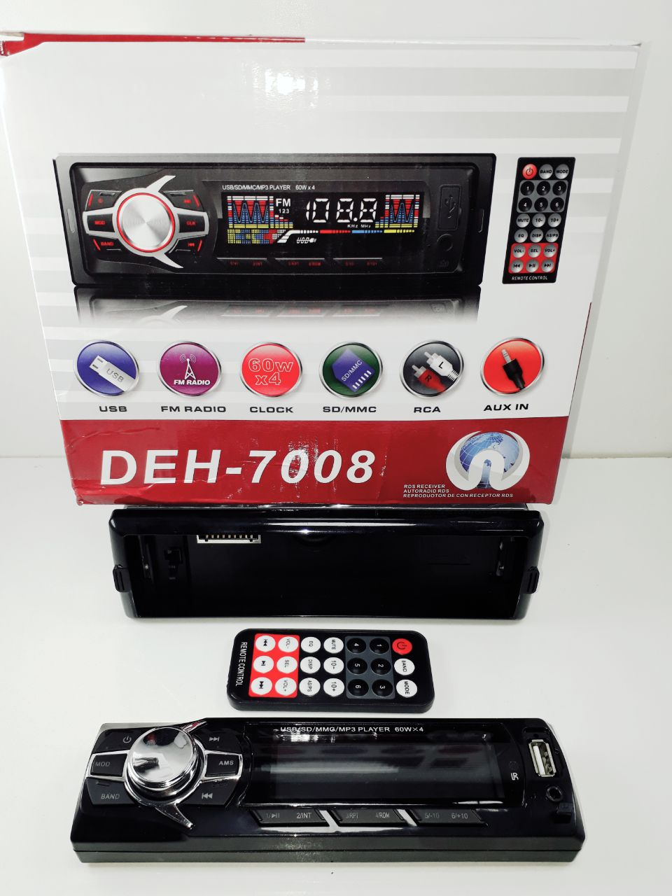 STEREO BLUETOOTH DESMONTABLE DEH-7009 -7008
