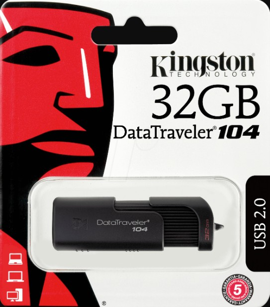 ELG PENDRIVE 32GB KINGSTON ORIGINAL4 JGT DT10432