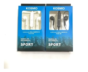 AURICULAR BLUETOOTH KOSMO KOS-S6 BLANCO SPORT IN EAR MANOS L