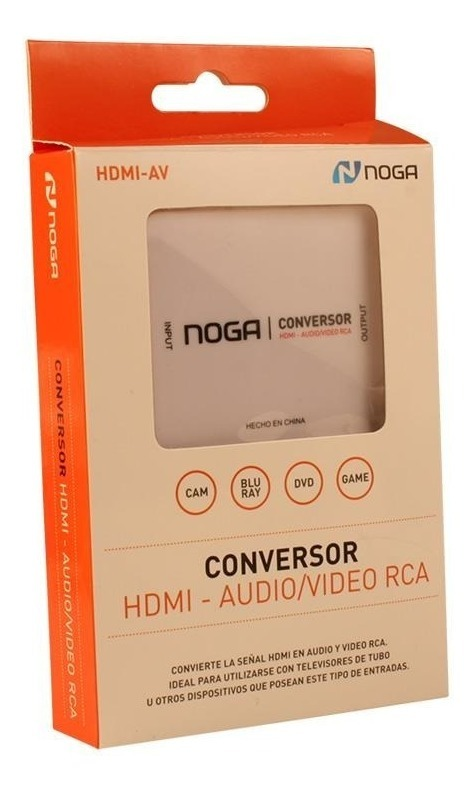 ADAPTADOR NOGANET HDMI-AV CONVERSOR HDMI A RCA AUDIO Y VIDEO