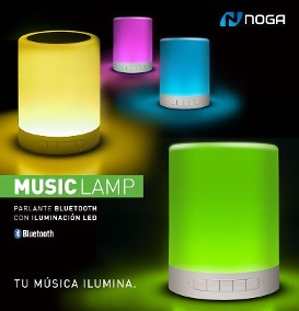 PARLANTE NOGANET NG-LAMP + LAMPARA CON LUCES LEDS MULTICOLOR