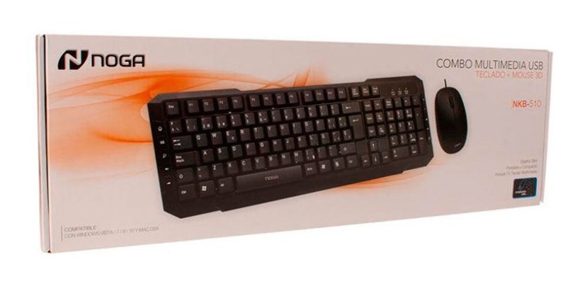 TECLADO NOGANET NKB-510 MULTIMEDIA USB + MOUSE OPTICO 3 BOTO