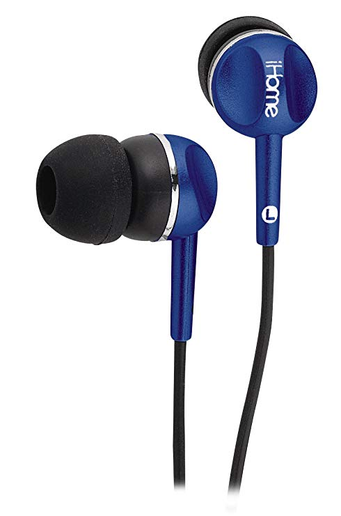 AURICULARES IHOME IB5L AZUL COLOR TUNES IN EAR NOISE ISOLATI