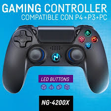 JOYSTICK NOGANET NG-4200X PARA PLAY 4 / 3 PC CON CABLE 3 M