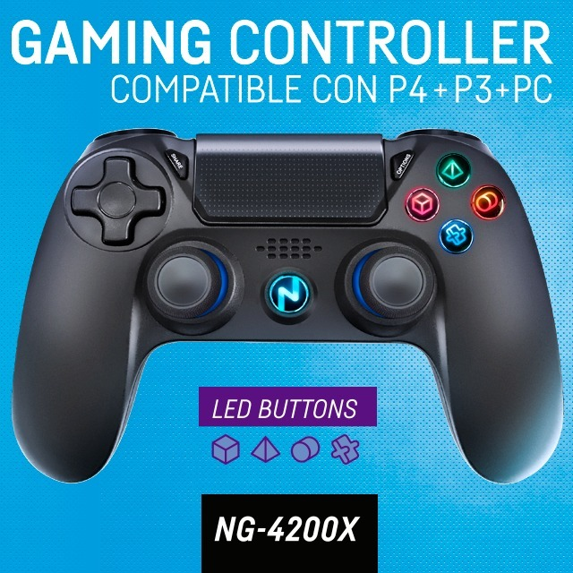 JOYSTICK NOGANET NG-4300X PARA PLAY 4 INALAMBRICO BLUETOOTH