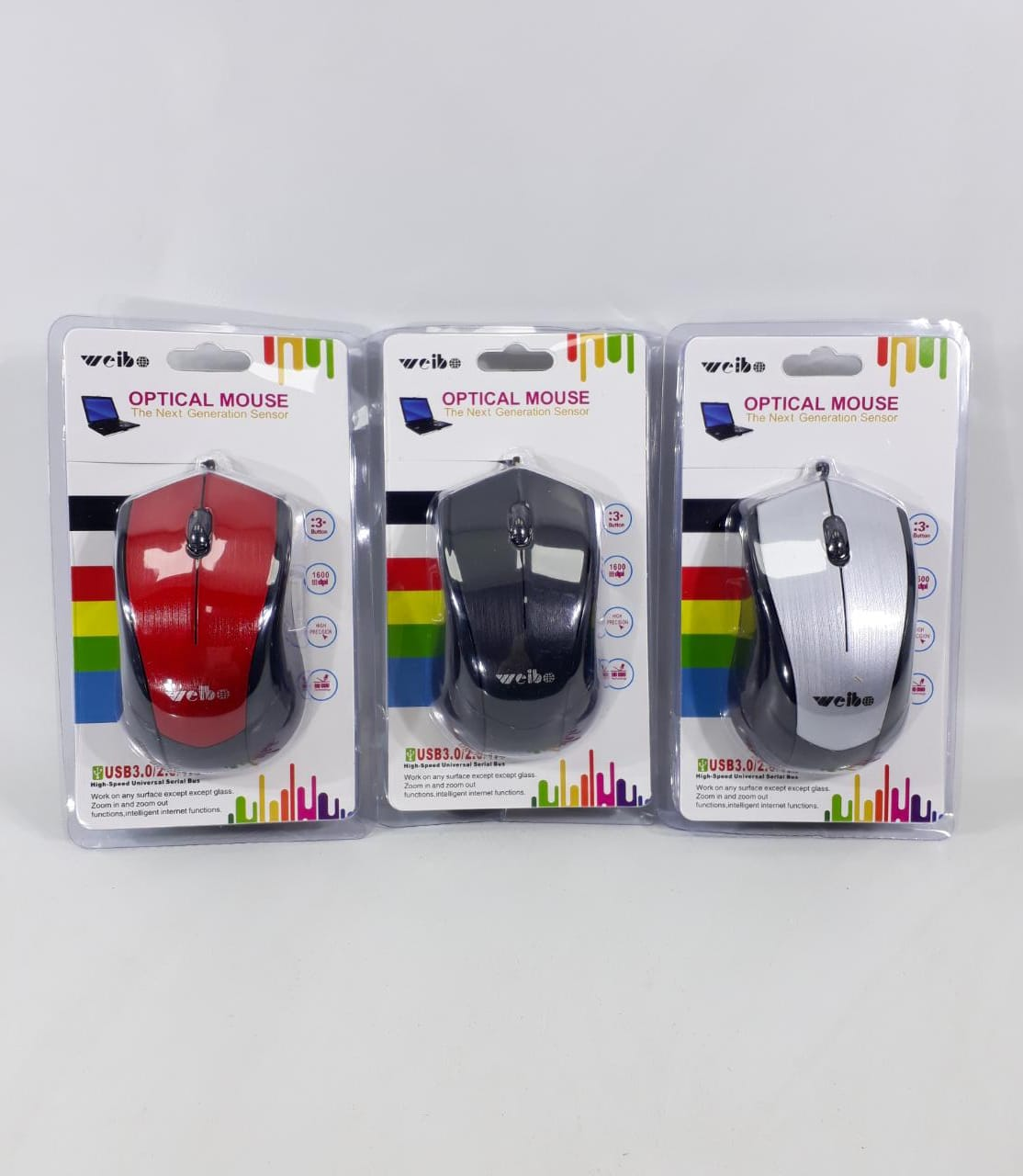MOUSE CON CABLE OPTICAL