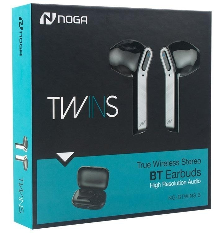 AURICULARES NOGANET NG-BTWINS 3 NEGRO IN EAR BLUETOOTH 4,2 +