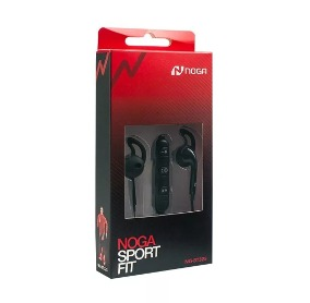 AURICULARES NOGANET NG-BT325 BLUETOOTH SPORT FIT NEGRO REMOT