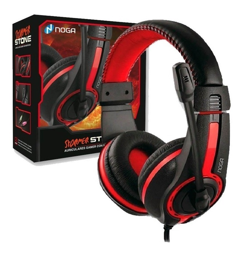 AURICULARES NOGANET ST-819 STORMER GAMER NEGRO MICROFONO