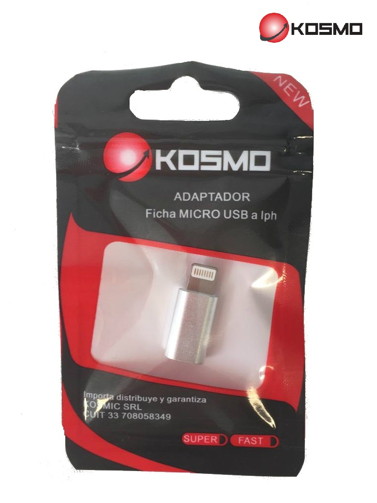 ADAPTADOR MICRO USB A IPHONE ALTA CALIDAD ALUMINIO HI-SPEED
