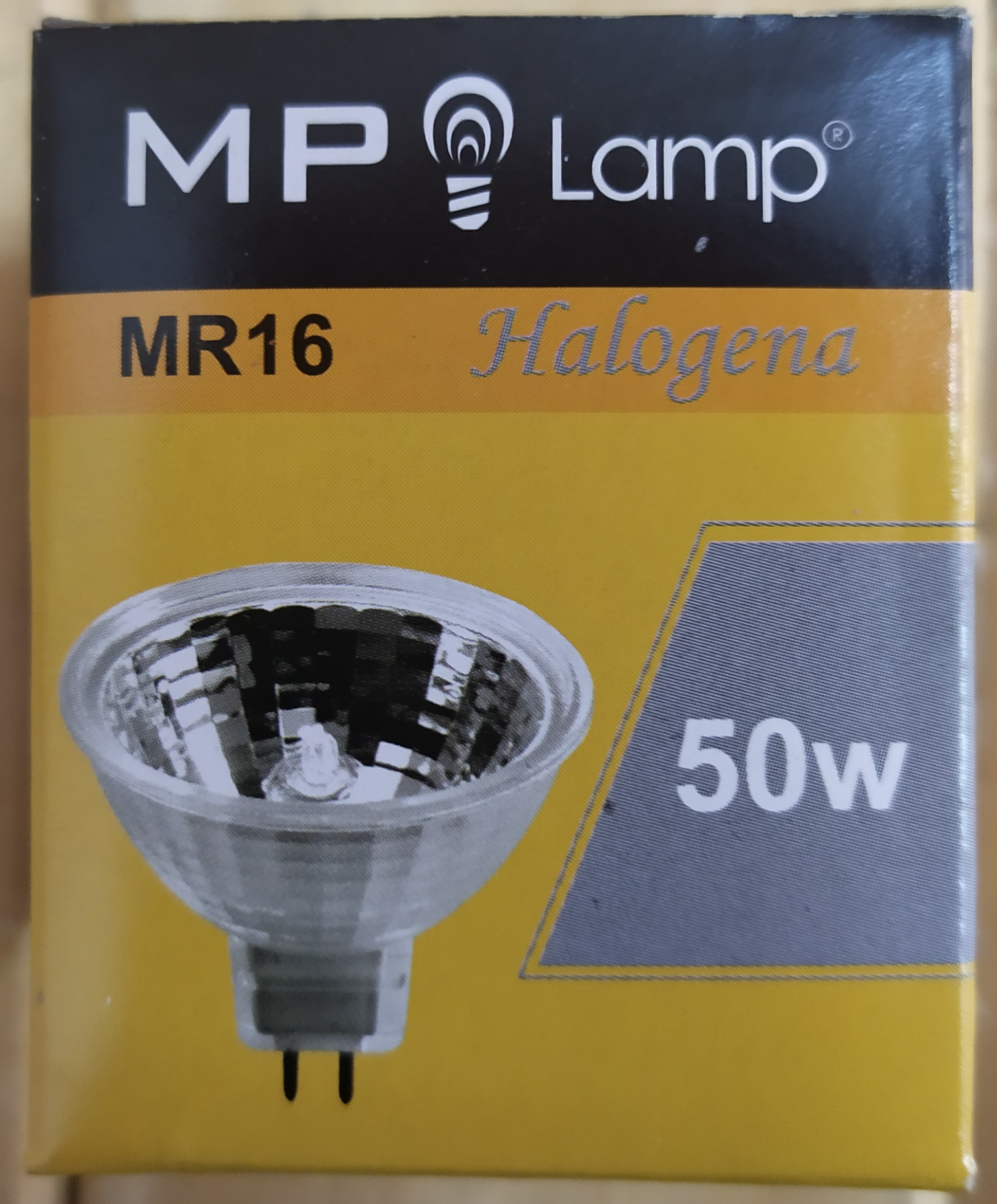 E16 LAMPARA DICROICA HALOGENA 50W-12V MP