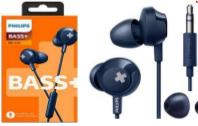 AURICULARES PHILIPS SHE-4305BL/00 AZUL BASS+ IN EAR CON MICROFONO