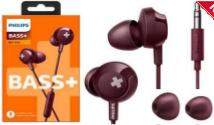 AURICULARES PHILIPS SHE-4305RD/00 ROJO BASS+ IN EAR CON MICROFONO