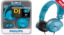 AURICULARES PHILIPS SHL-3050TL EXTRA BASS TURQUESA VINCHA PLEGABLE Y REGULABLE