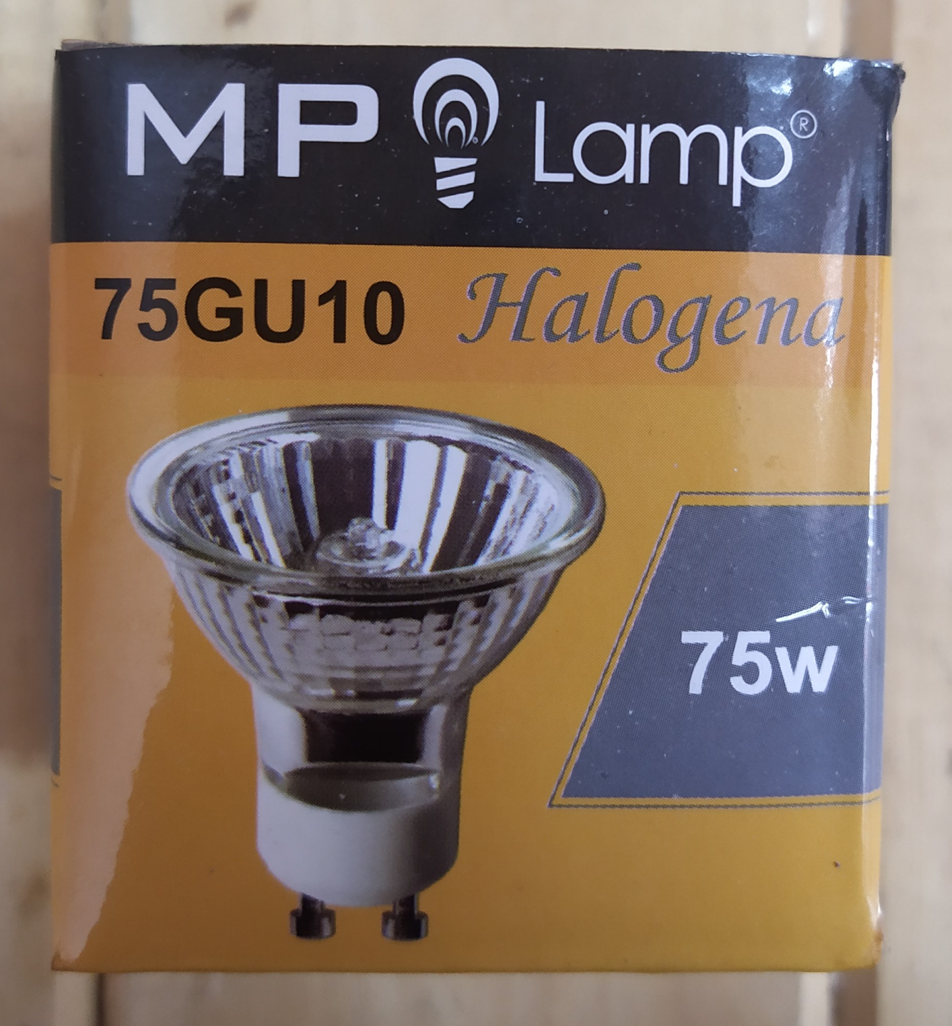 E16 LAMPARA HALOGENA GU10 75W-220V MP