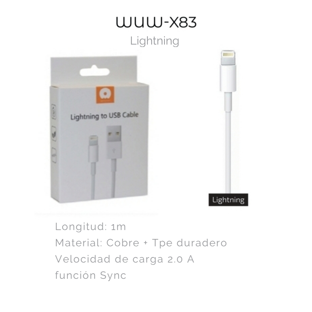 CABLE DATOS LIGHTNING WUW-83