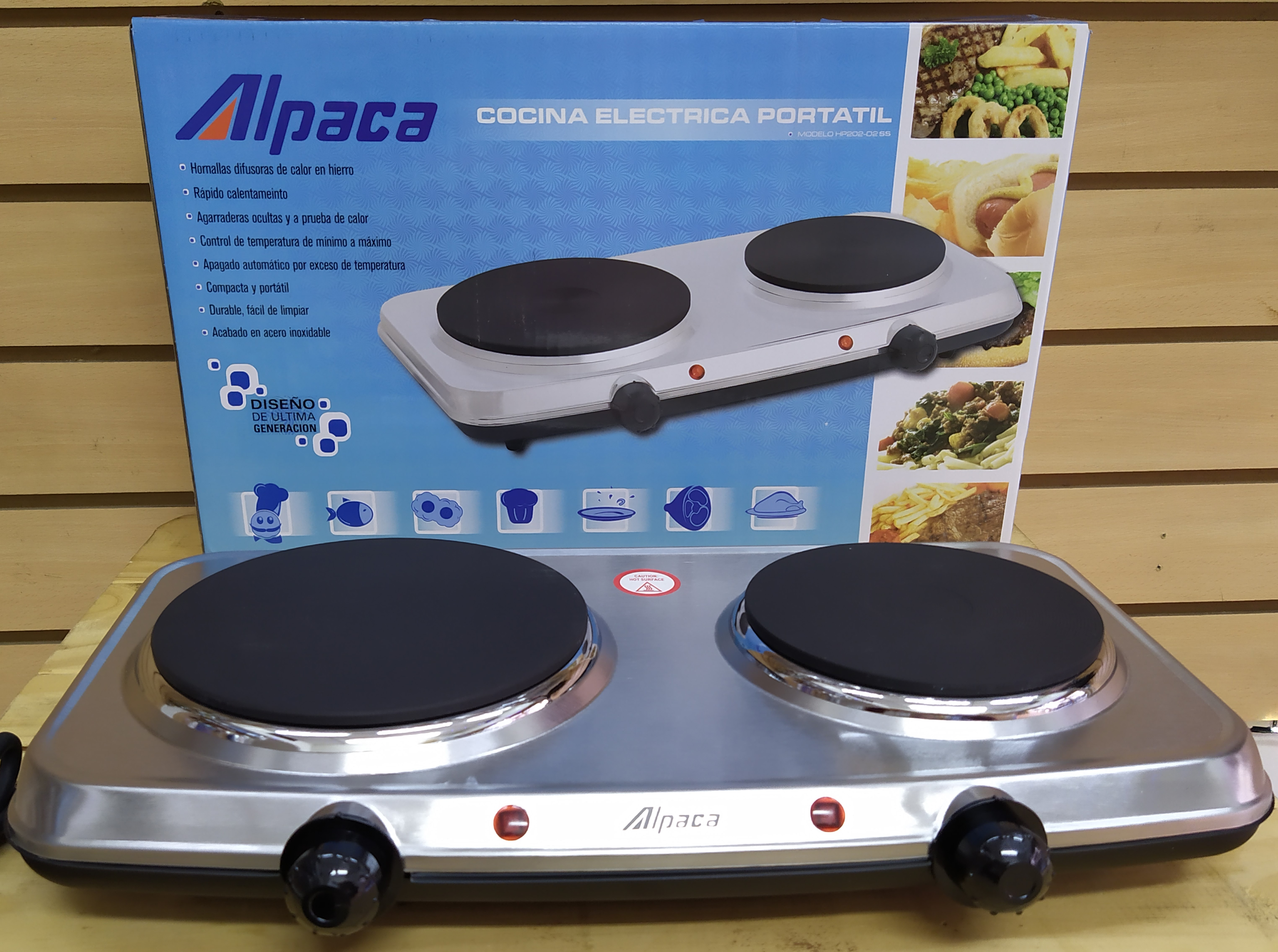 E16 ANAFE DOBLE ALPACA 2500WATTS