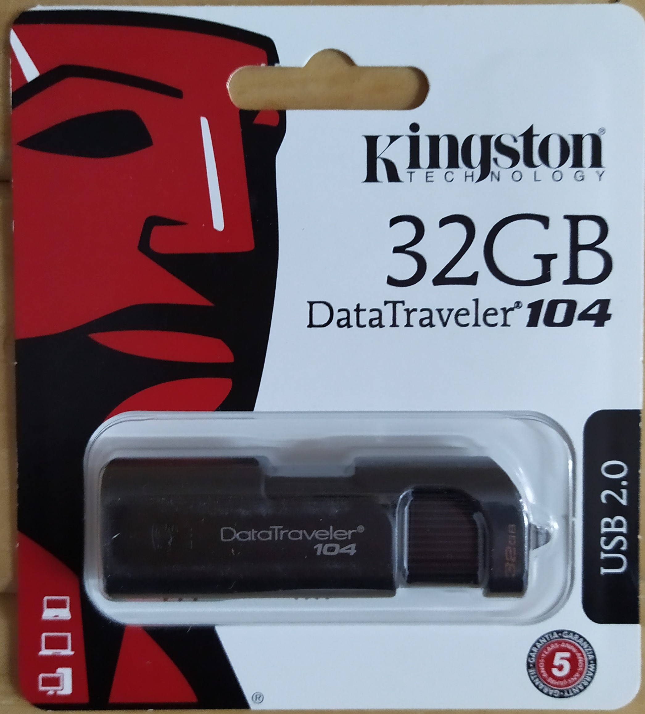 E16 PENDRIVE DE 32GB KINGSTON
