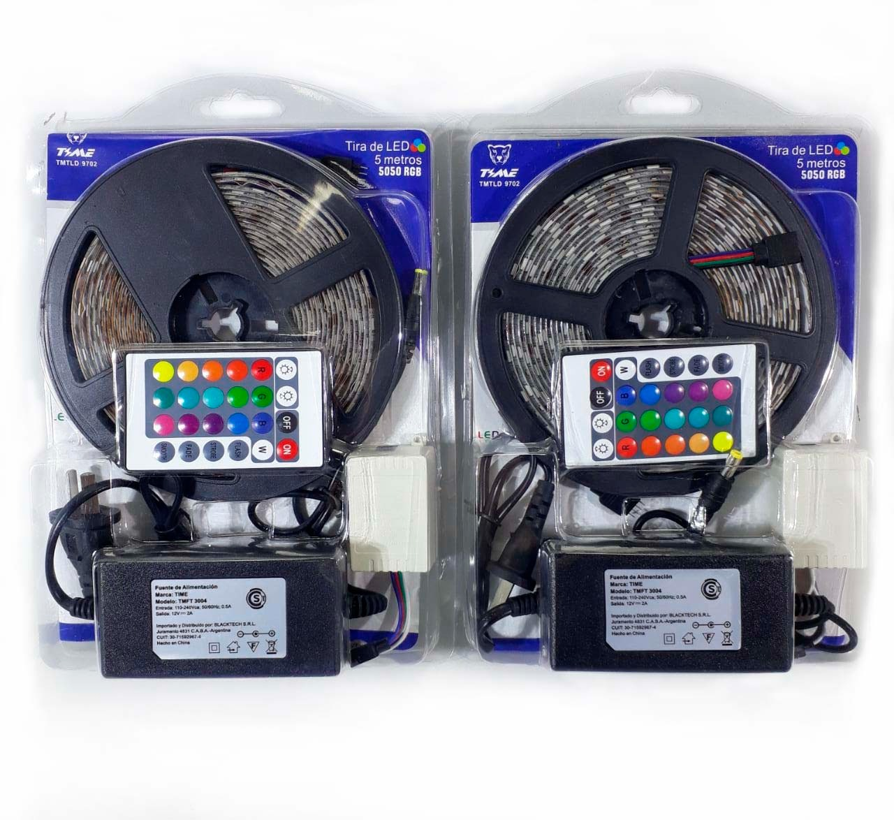 KIT RGB 5050 LED EXTERIOR INTERIOR 5 MTS