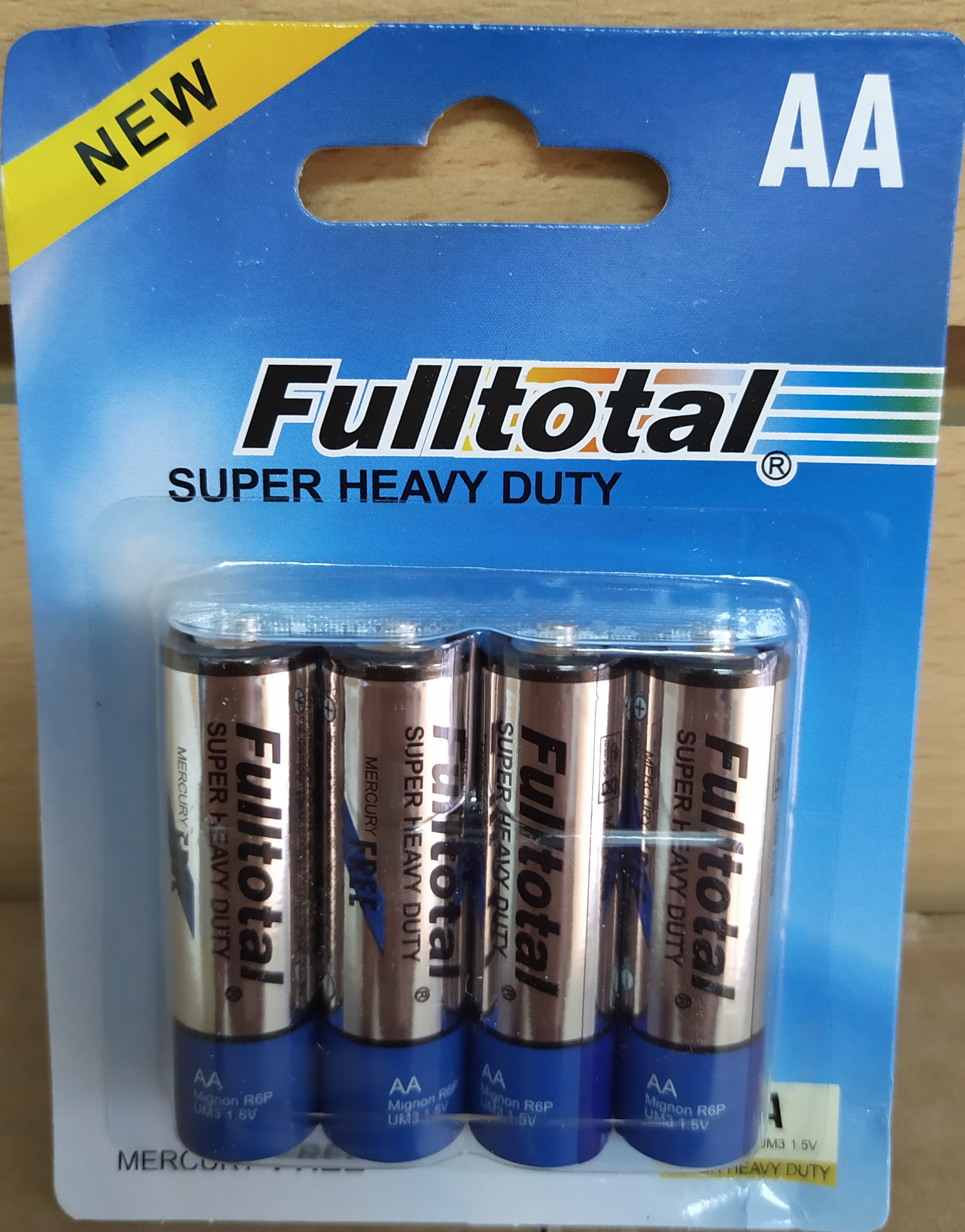 E16 PACK 2X PILAS DE CARBÓN AA 1.5V FULL TOTAL