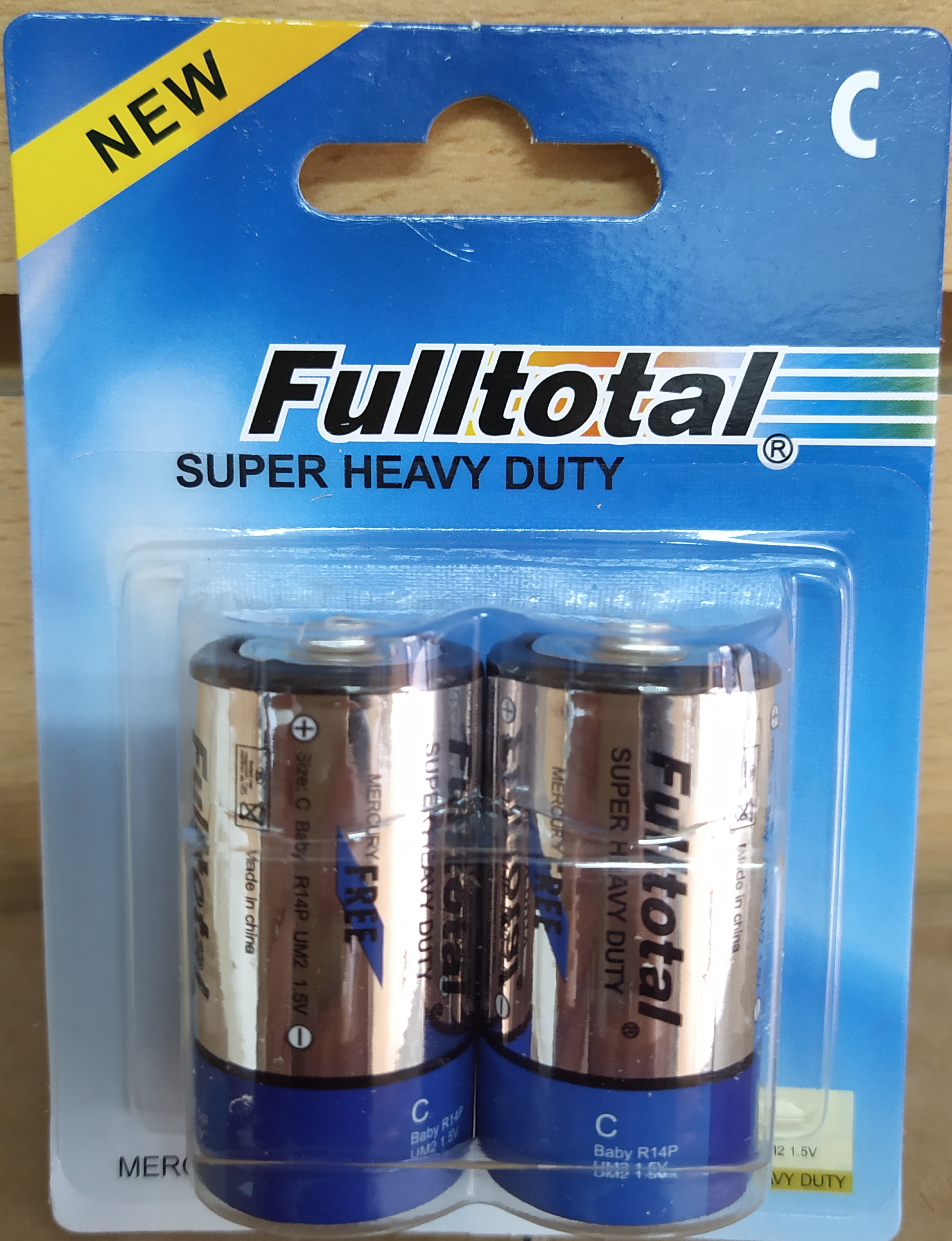 E16 PACK DE PILAS C DE CARBÓN FULL TOTAL 1.5V