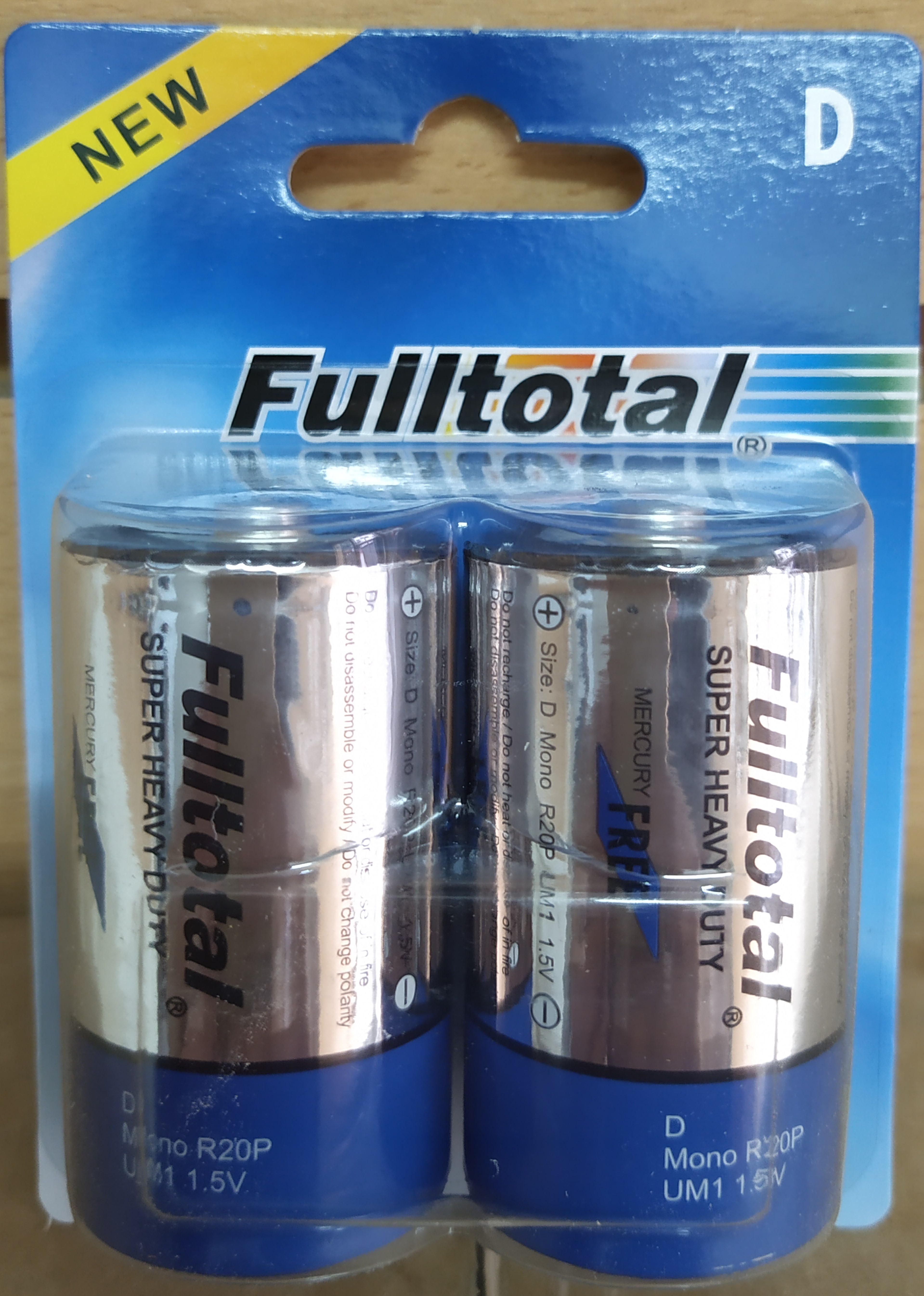 E16 PACK X2 PILAS D DE CARBÓN FULL TOTAL 1.5V