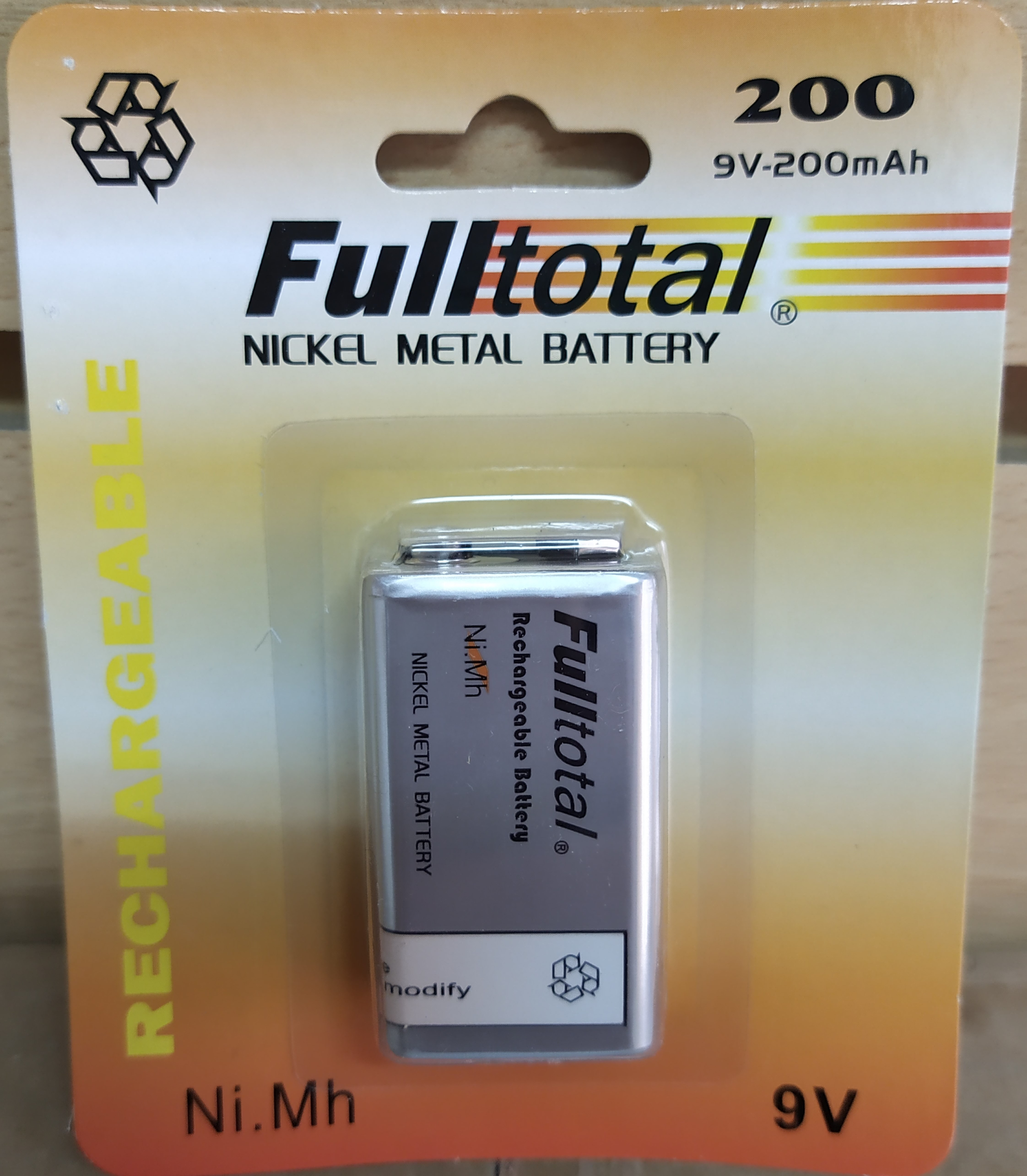 E16 PILA RECARGABLE 9V-200MAH FULL TOTAL