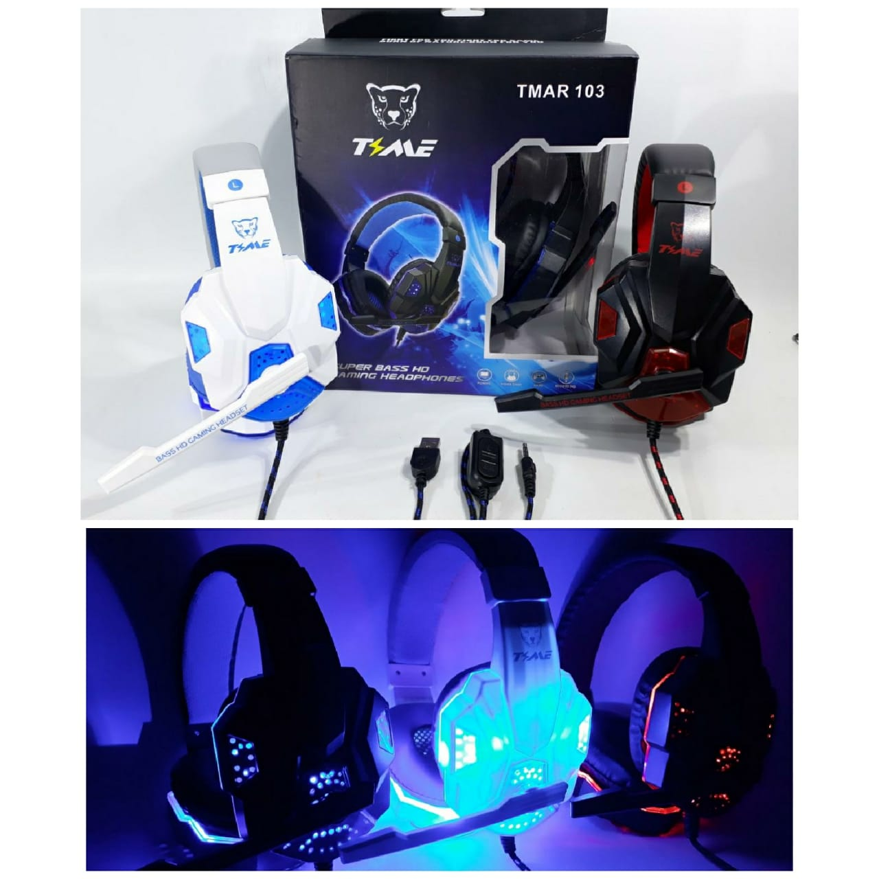 ELG VINCHA GAMER TIME C/ LUZ LED (PS4,PC) 2mt cordon JGT