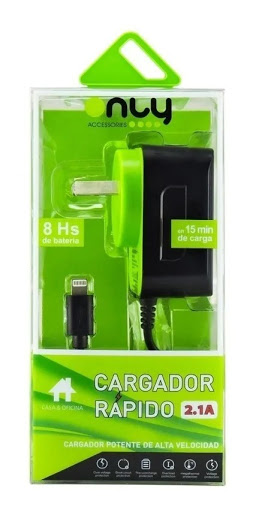 CARGADOR IPHONE ONLY VERDE