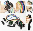 KIT ELASTICOS 5 RESISTENCIAS FITNESS YOGA PILATES TOBILL