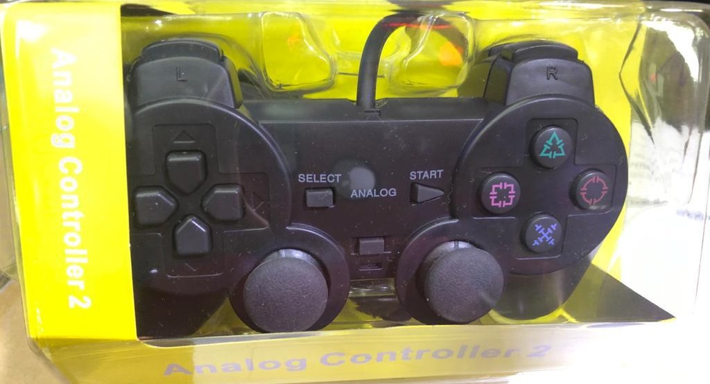 JOYSTICK ANALOGICO PLAY 2 BLISTER AMARILLO