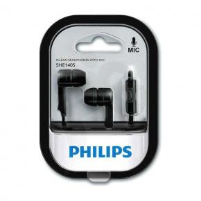 AURICULARES PHILIPS SHE-1405KSS/27 NEGRO IN EAR CON MICROFON