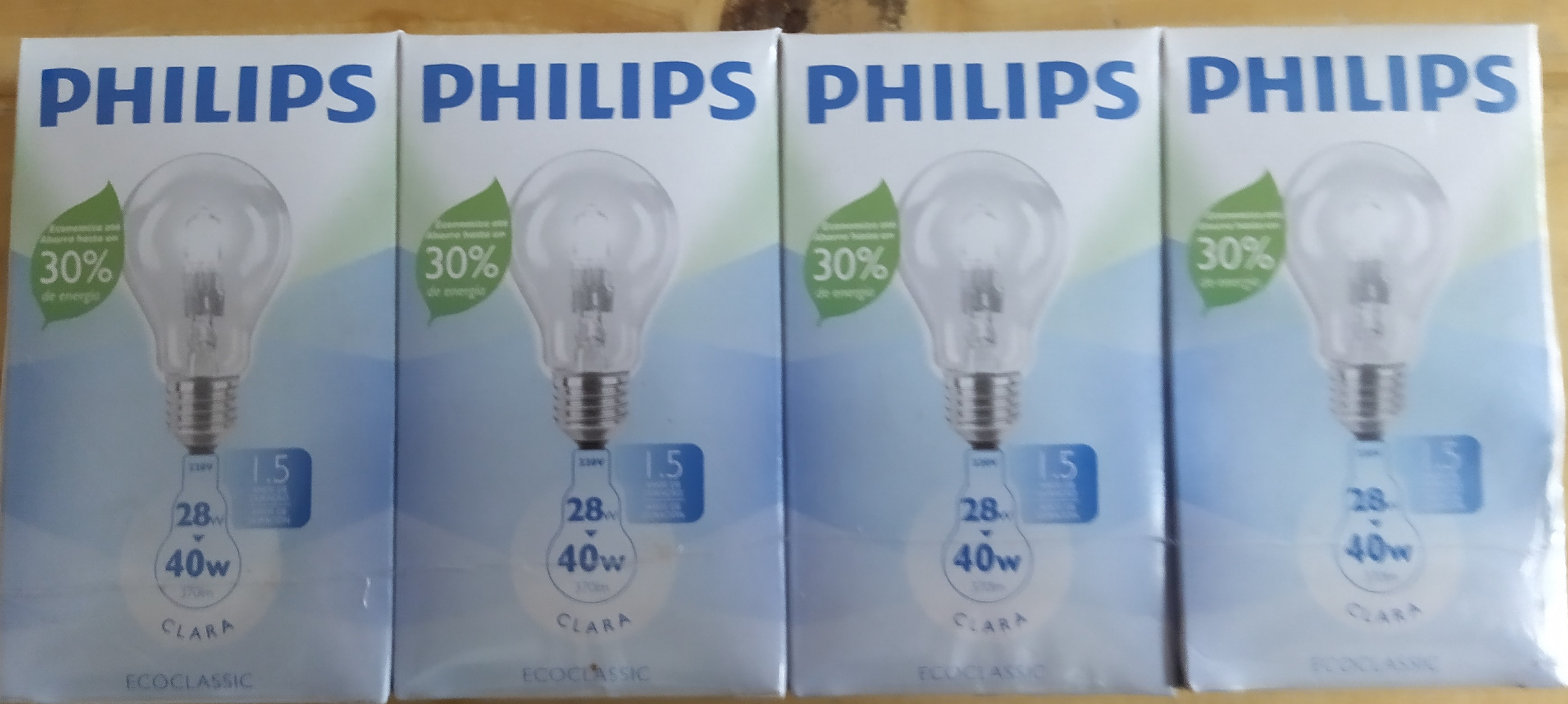 E16 LAMPARA HALOGENA TRANSPARENTE DE28W=40W PHILIPS