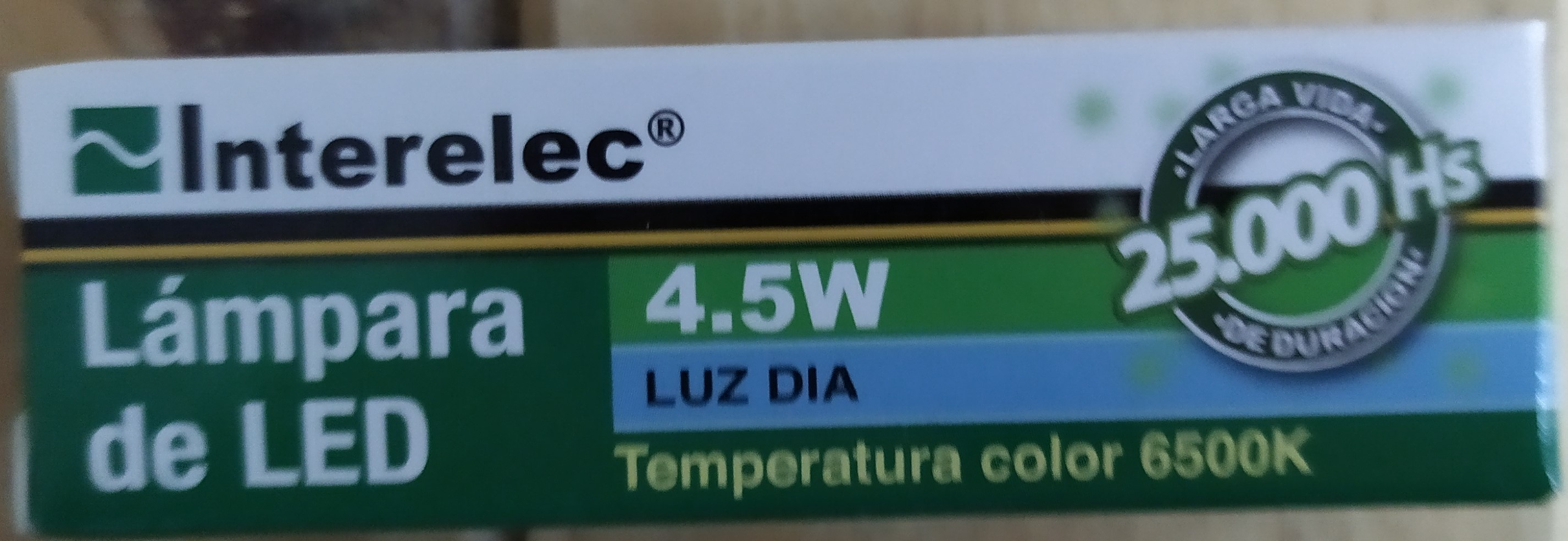 E16 LAMPARA LED G9 4.5W (6500K) LUZ FRÍA INTERELEC