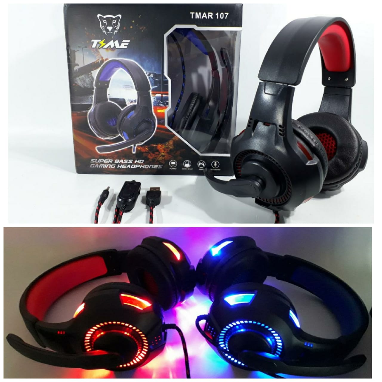 ELG VINCHA GAMER TIME C/ LUZ LED (PS4,PC)2MT CORDONO JGT