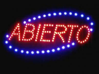 CARTEL LED SIMPLE ABIERTO