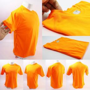 10 REMERAS DEPORTIVA DRY FIT NARANJA FLUOR TALLE S X10 UNID
