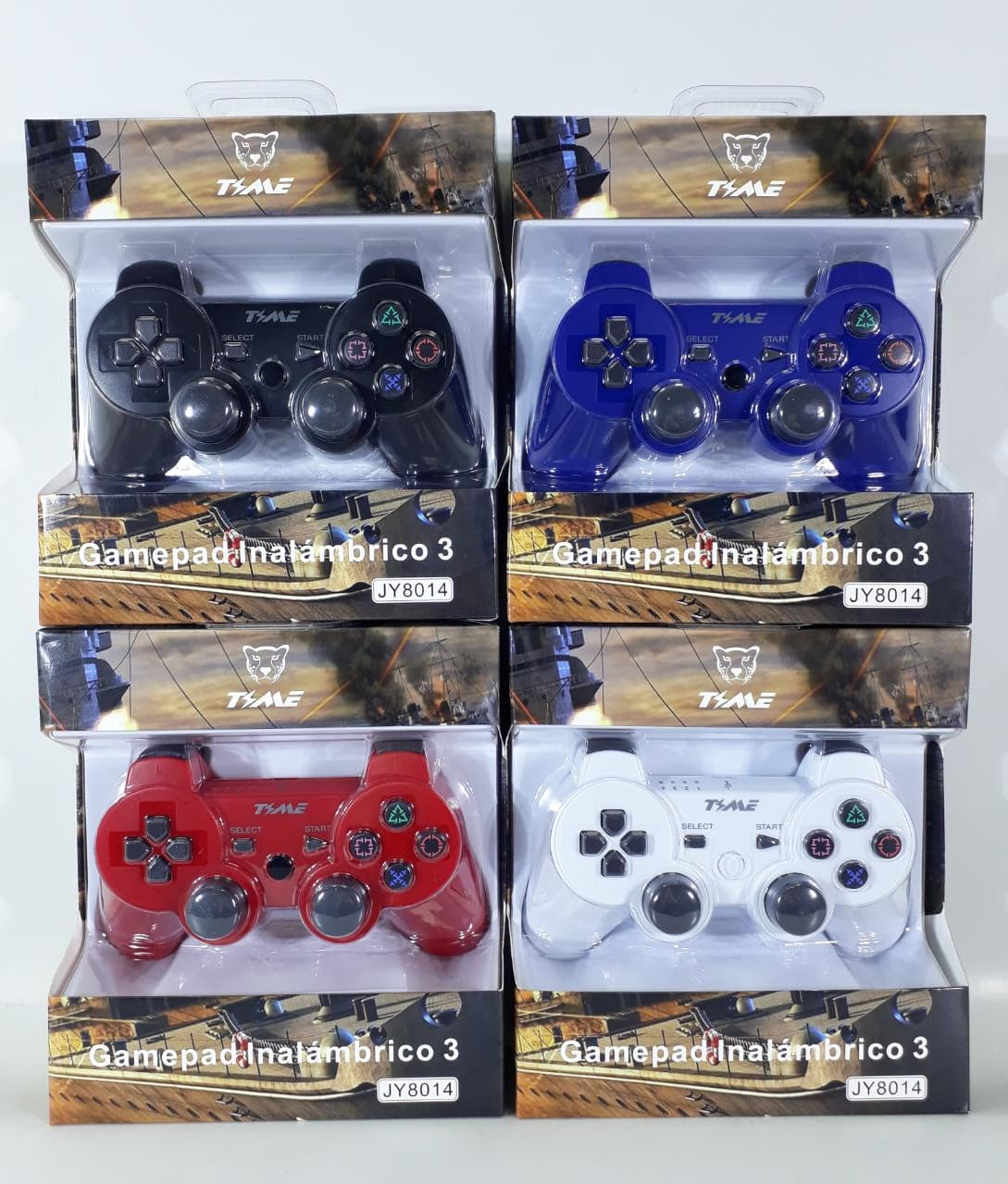 JOYSTICK GAMEPAD PS3 INALAMBRICO COLORES TIME