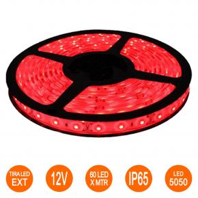 TIRA LED 5050 EXTERIOR ROJA 5mt